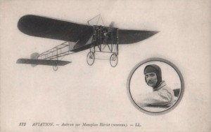 A contemporary French postcard celebrating the famed aviator.