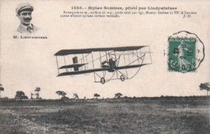 Another contemporary French postcard of a competitor.