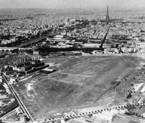 Issy-les-Moulineaux aerodrome, where the Circuit de l'Est both started and ended -- all within sight of the Eiffel Tower.