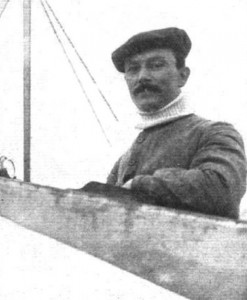 Alfred Leblanc in the cockpit of his Blériot, in which he won the Circuit de l'Est in 1910.  Source:  Flight, August 27, 1910