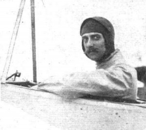 M. Aubrun in the cockpit of his Blériot, posing for the cameras after having taken second prize in the Circuit de l'Est in 1910.  Source:  Flight, August 27, 1910