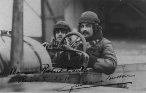 Guillaume Busson, a year after the Circuit de l'Est, gives a ride to a passenger, with whom he poses for a photograph.