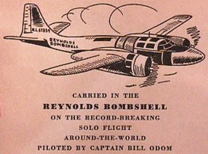 Previously, Captain Odom had made a round-the-world flight in a Douglas B-26 VIP conversion for the Reynolds Corporation.