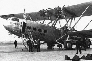 "The ""Heracles"", one of the airliners of Imperial Airways in the late-1930s."