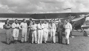"Men of the RAF 601 Squadron, the so-called ""Millionaire Squadron"", photographed in 1938."
