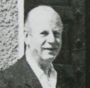 A rare photo of Mr. Rupert Belleville, later in life in 1956.