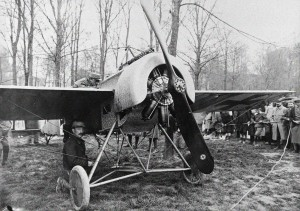 A Fokker Eindecker, similar to the one flown by Max Immelmann on his last flight -- note that Immelmann's plane sported two machine guns.