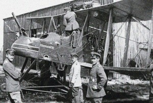 "One of the No. 25 Sqn RFC FE2b, serial number 6341, ""Zanzibar No.1"" after captured by the Germans when forced down by Lt. Heinrich Gontermann of Jasta 5 (16 May 1916)."