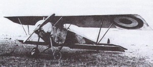 Lt. Marchal's highly modified Nieuport 10, the two fuel pumps clearly visible on the rear struts of the landing gear.