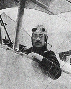 Lt. Marchal in the cockpit of his Nieuport, during the weeks leading up to the Special Mission.