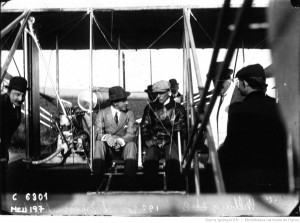 The Wrights show their airplane to the King of Spain while at Pau, France.  Source:  Bibliothèque nationale de France