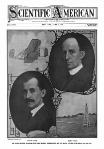 "After the Wright's return from Europe back to the USA, the Scientific American made amends in a way when it featured them on the front page and declared, ""The Wright Brothers, inventors of the first practical flying machine, and the leading aviators of the world.""  Source:  Archive.org"