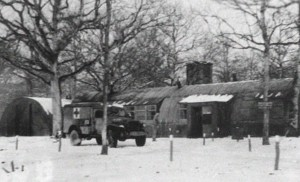 The base hospital at Thorpe Abbotts, where the injured flight crew members were brought after the mission.  Source:  100th Bomb Group Foundation