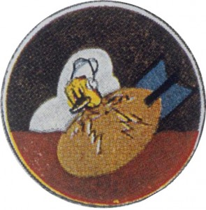 The Insignia of the 418th Bomb Squadron, to which Rosenthal's and Lewis' crew were assigned.  Photo Credit:  Imperial War Museum, modified from original, for non-commercial use only.