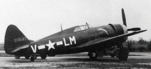 "The type of escort fighter that was scheduled to cover the mission -- in this example, the P-47B Thunderbolt ""Soubrette"", assigned to Lt. Robert M Cherry of the 56th Fighter Group's 62nd Fighter Squadron."