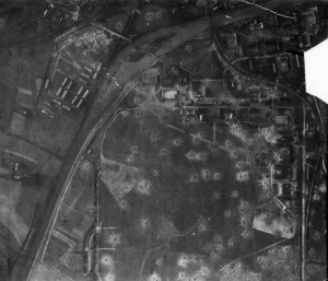Bomb Damage Assessment (BDA) photograph from Münster.  Source: USAAF