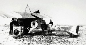 "An RFC Morane-Saulnier L ""Parasol"", perhaps one of the ones assigned to 3 Squadron that participated at Flers, Belgium, during the Battle of the Somme."