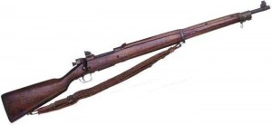 An M1903A3 Springfield Rifle, the type that was handed to Ens. Ruth's flight crew that day.  Source:  Wikipedia