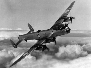The RAF's AVRO Lincoln, a bomber developed at the end of WWII, which flew after the war in operational service.