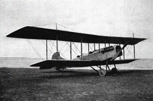 A Curtiss JN-4 Jenny biplane of the type that the US Army sold as surplus after the war, c. 1918.  Photo Credit:  Harrison S. Kerrick