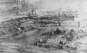 Some of the 35 city blocks that burned during the riots in Tulsa.
