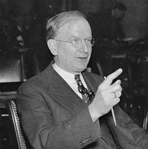Senator Burton Wheeler, D-Montana.  Source:  US Library of Congress (photograph from 1937)