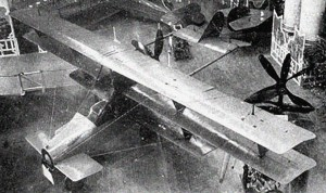 A rare photograph of the Curtiss Autoplane on display at the Pan American Aeronautical Exposition in February 1917.