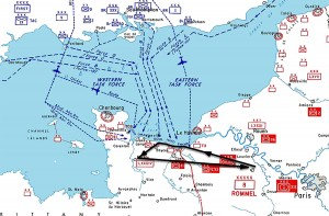 The route of flight on D-Day.