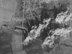 Evreux airfield strike photo, Summer 1944 (north at top).  Source:  8th AF