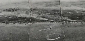 Allied recce photo of Juno Beach during the landings on D-Day, June 6, 1944.