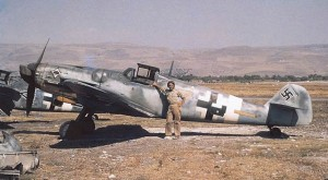 Captured Messerschmitt Bf 109G, c. 1945.