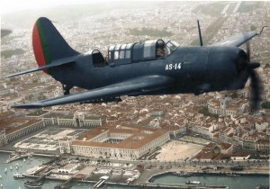Curtiss SB2C-5 Helldiver dive bomber in Portuguese markings