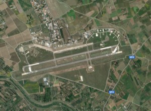 Decimomannu Air Base today.  Source:  Google Maps