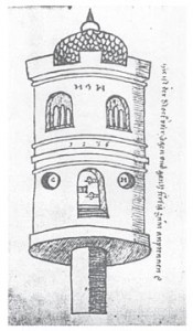 "The rocketship -- or more properly ""rocket house"" -- of Conrad Haas, 16th C."