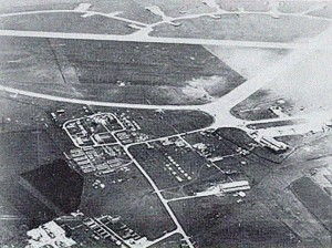 Ramat David AB, photographed from lower altitude in early 1948 before the RAF evacuated -- approximately six months before the Shufti Kite interception.  Photo Credit:  Naval Eight / 208 Squadron Association