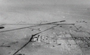 Fayid Airbase in Egypt, from which the RAF Mosquito had taken off on its first of two recce missions flown over Israel.  Photo Credit:  IWM