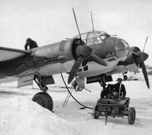A Luftwaffe Junkers Ju 88 bomber, the type that Fyodorov intercepted alone during a German raid on his base.
