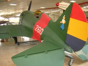 """Polikarpov I-16 """"Mosca"""", also known as the """"Rata""""; the type that Fyodorov flew in Spain.  This example is at the Museo de Cuatrovientos, Madrid, España.  Photo Credit:  Andrea, Turin, Italy."""